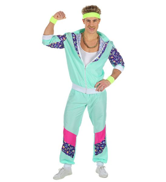 Adults 80s Shell Suit - Blue Costume 80s Fancy Dress